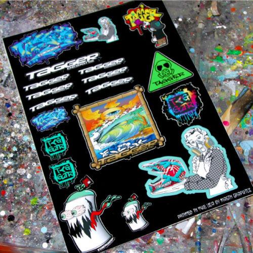 Collage sticker sheet