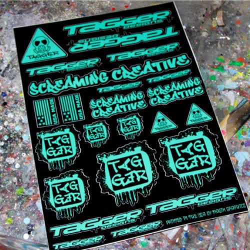 Screaming Creative Seafoam sticker sheet