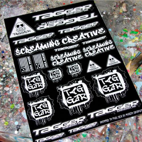 Screaming Creative White sticker sheet