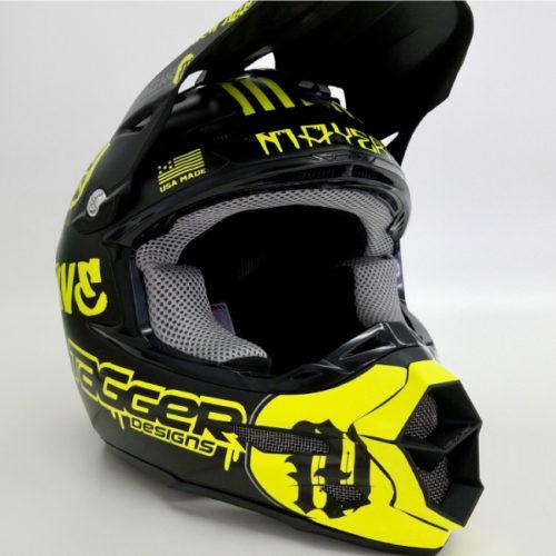 Tagger Crew helmet wrap neon yellow
