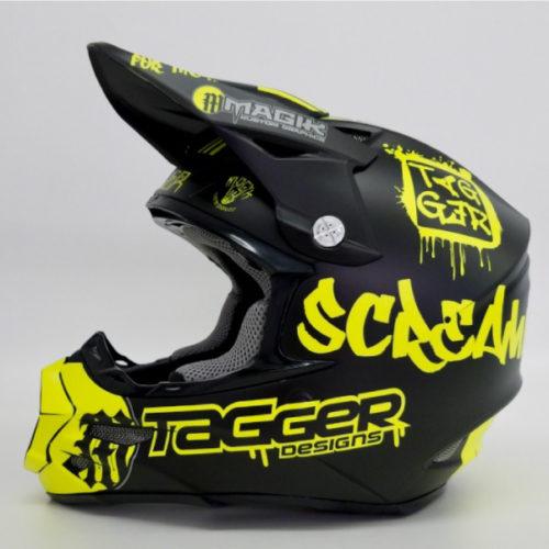 Tagger Crew neon yellow helmet wrap